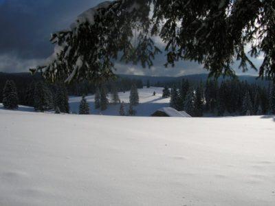 Rando raquette Jura entre mouthe et la vallée de joux